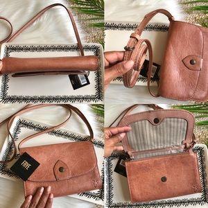 Frye Bags - Frye Melissa Leather Crossbody Bag in Dusty Pink